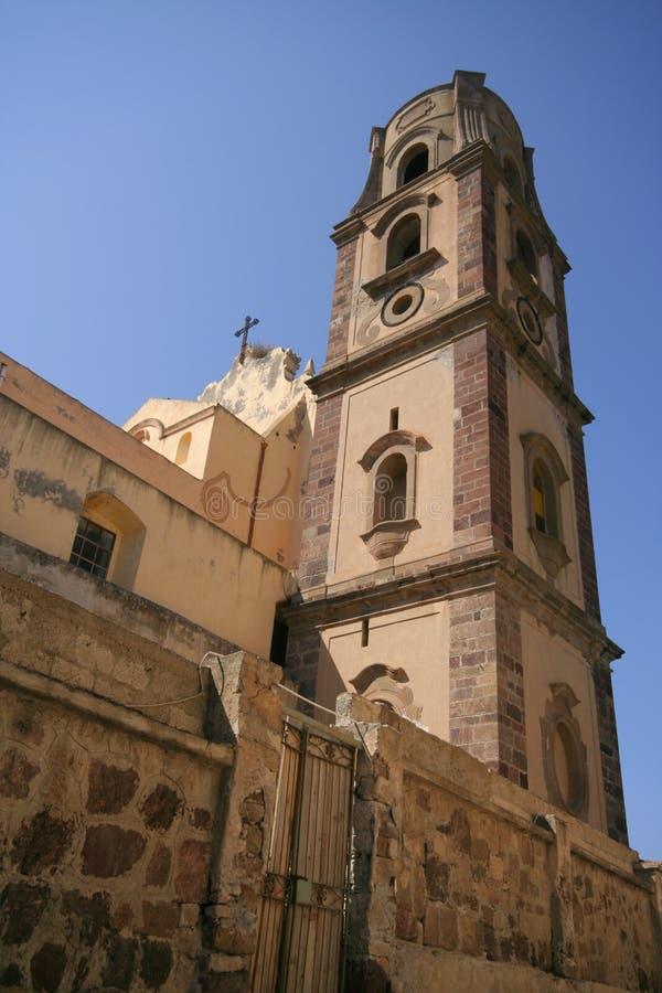 Iglesia en Lipari, Italia foto de archivo