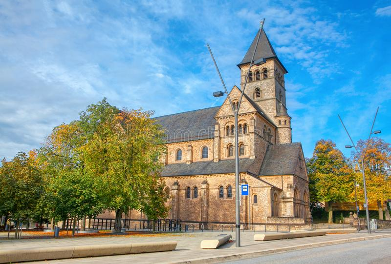 Iglesia en Luxemburgo imagen de archivo libre de regalías