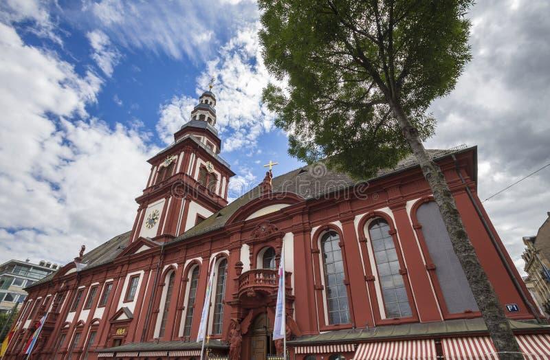 Iglesia en Mannheim Alemania fotografía de archivo