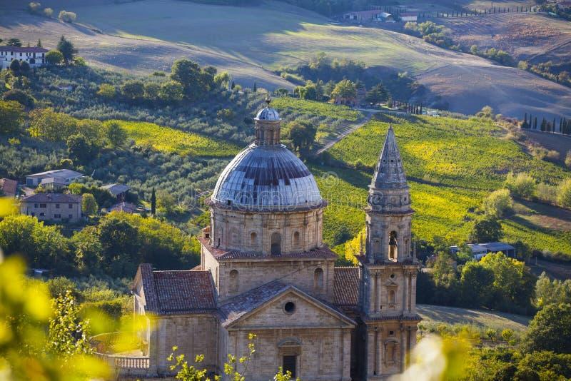 Iglesia de Montepulcioano, Toscana fotos de archivo libres de regalías