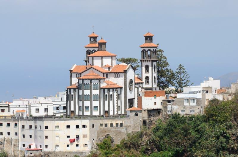Iglesia en Moya, canario magnífico imagenes de archivo
