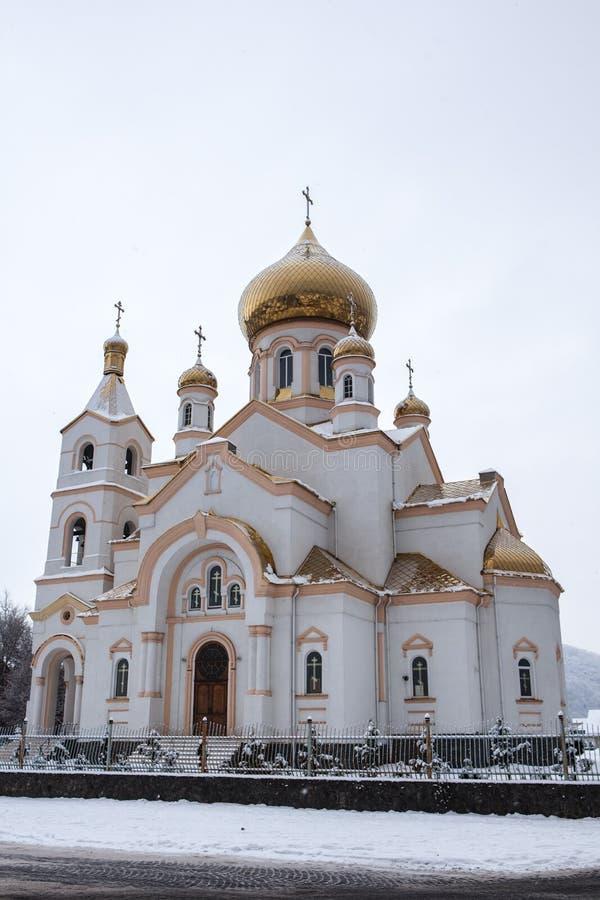 Iglesia en Mukacheve, Ucrania fotos de archivo