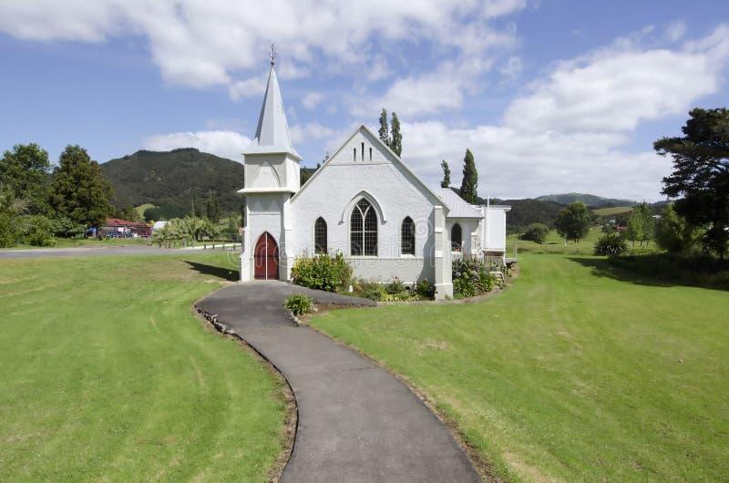 Iglesia en Nueva Zelandia imagenes de archivo