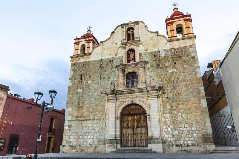 Iglesia en Oaxaca, México imagenes de archivo