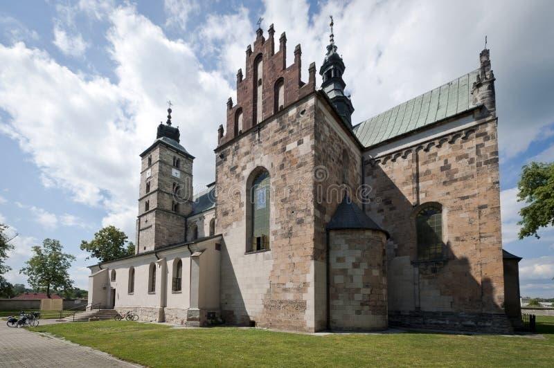 Iglesia en Opatow, Polonia de San Martín fotos de archivo libres de regalías