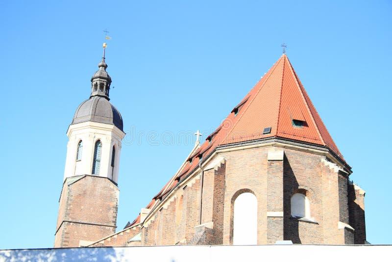 Iglesia en Opava imagen de archivo