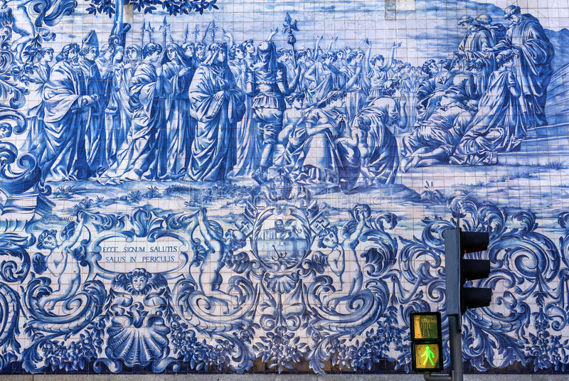 Iglesia en Oporto fotografía de archivo
