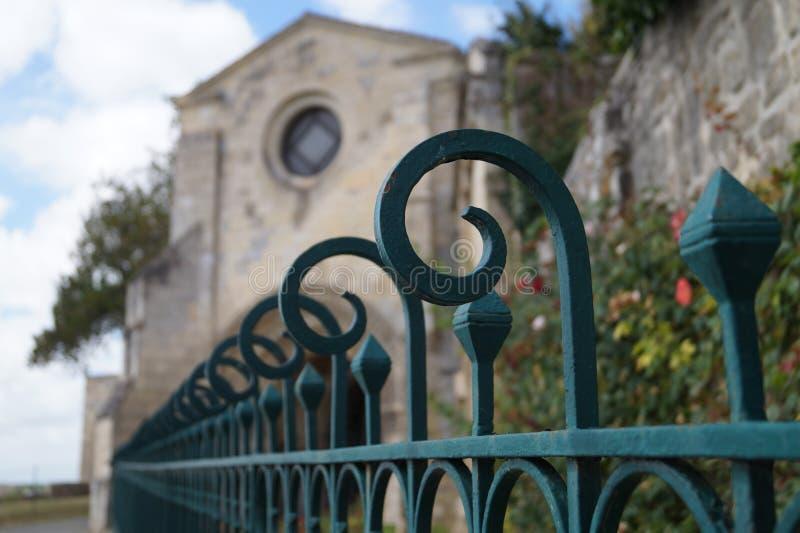 Iglesia en Pons France imagenes de archivo