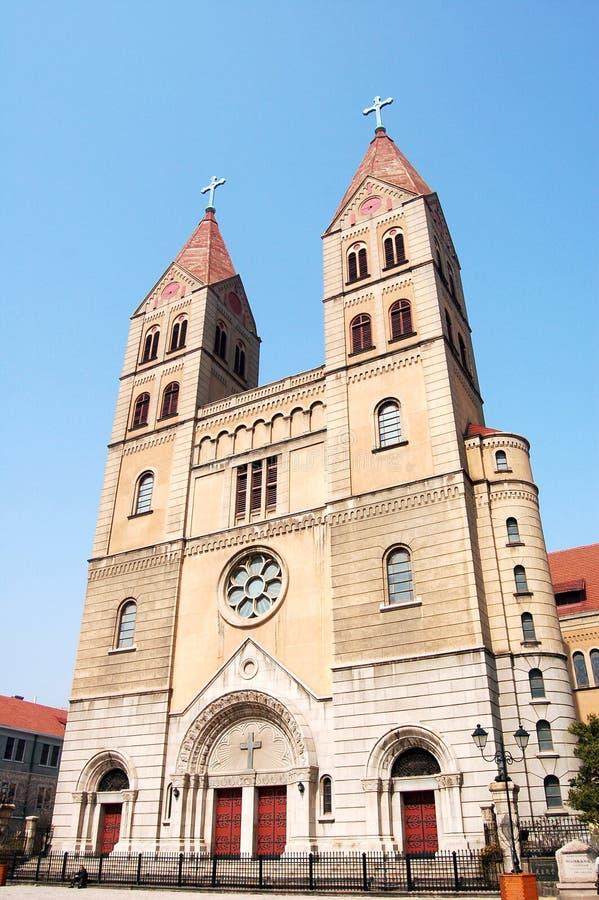 Iglesia en Qingdao fotos de archivo