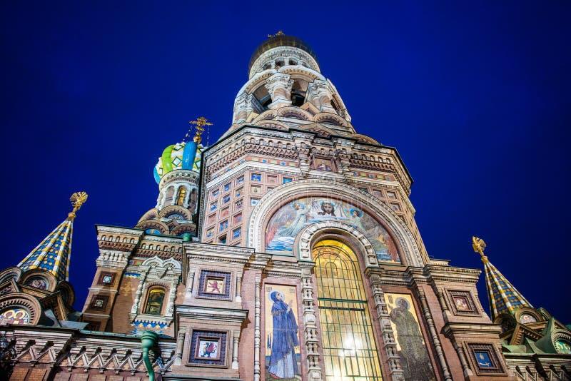 Iglesia en sangre derramada en St Petersburg imagen de archivo libre de regalías