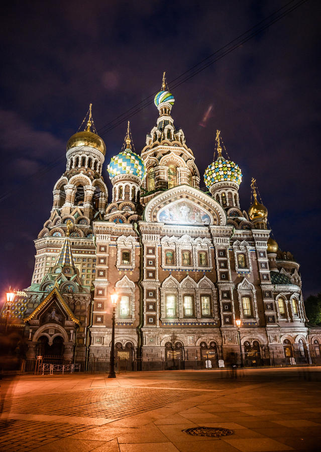 Iglesia en sangre derramada en St Petersburg fotos de archivo