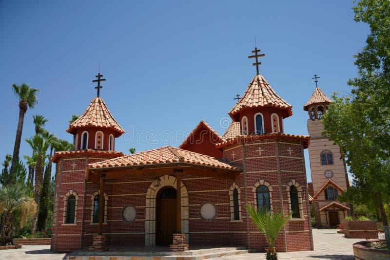 Iglesia en St Anthony y x27; monasterio de s en Florence Arizona imagen de archivo