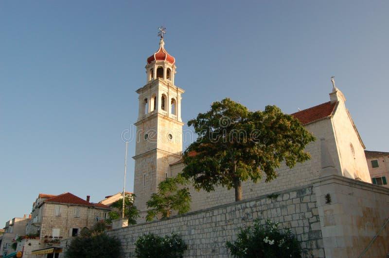 Iglesia en Sutivan en la isla de Brac - Croatia fotos de archivo libres de regalías
