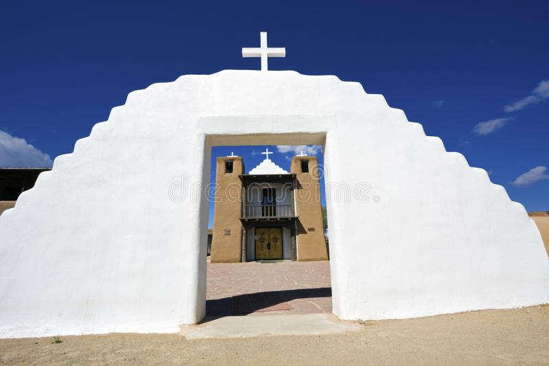 Iglesia en Taos fotos de archivo