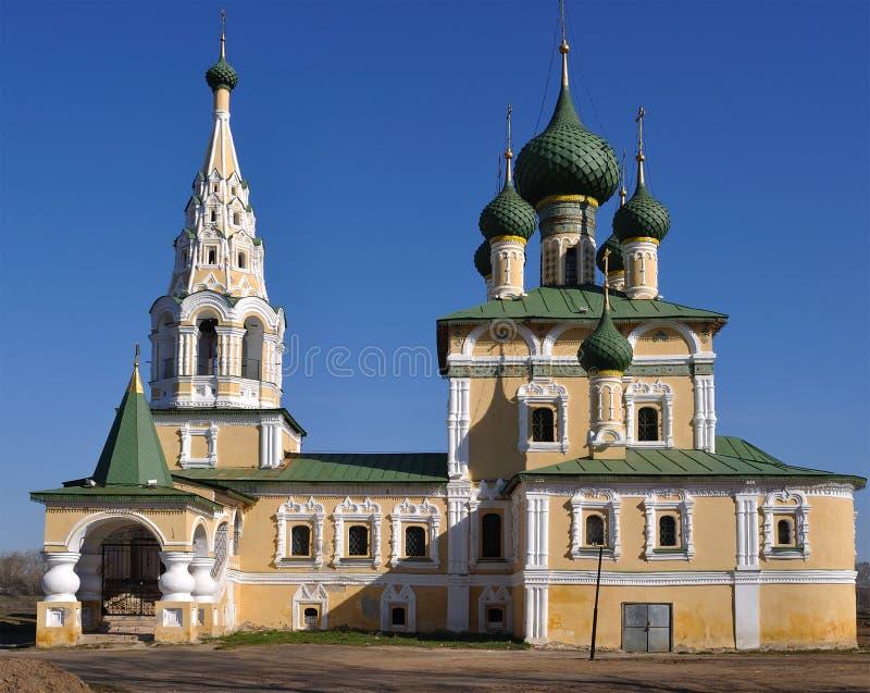 Iglesia en Uglich imagen de archivo