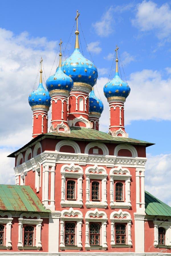 Iglesia en Uglich imágenes de archivo libres de regalías