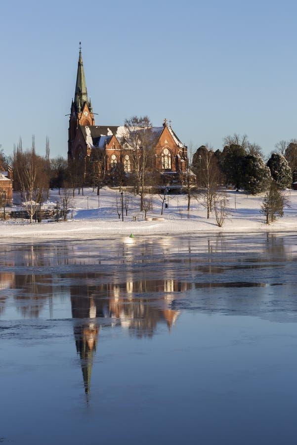 Iglesia en Umeå, Suecia imagenes de archivo