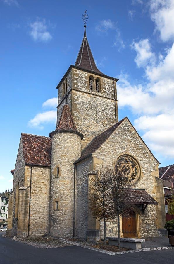 Iglesia en Vallangine imagenes de archivo