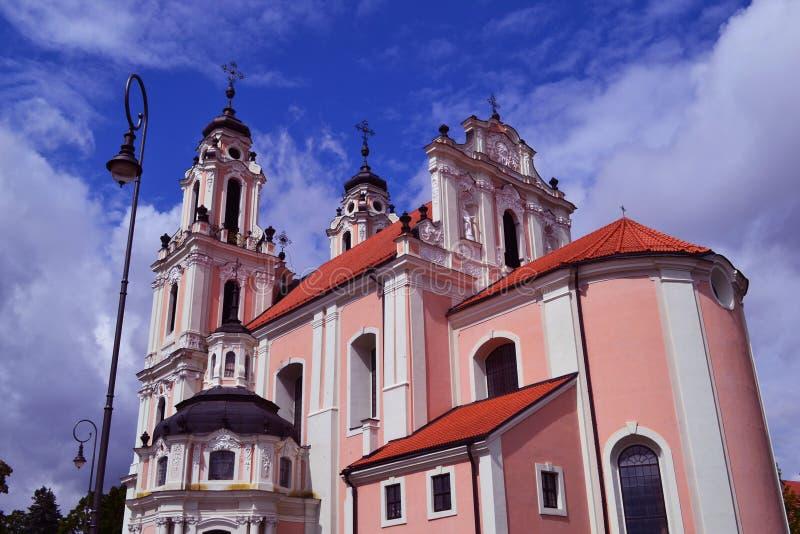 Iglesia en Vilnius foto de archivo