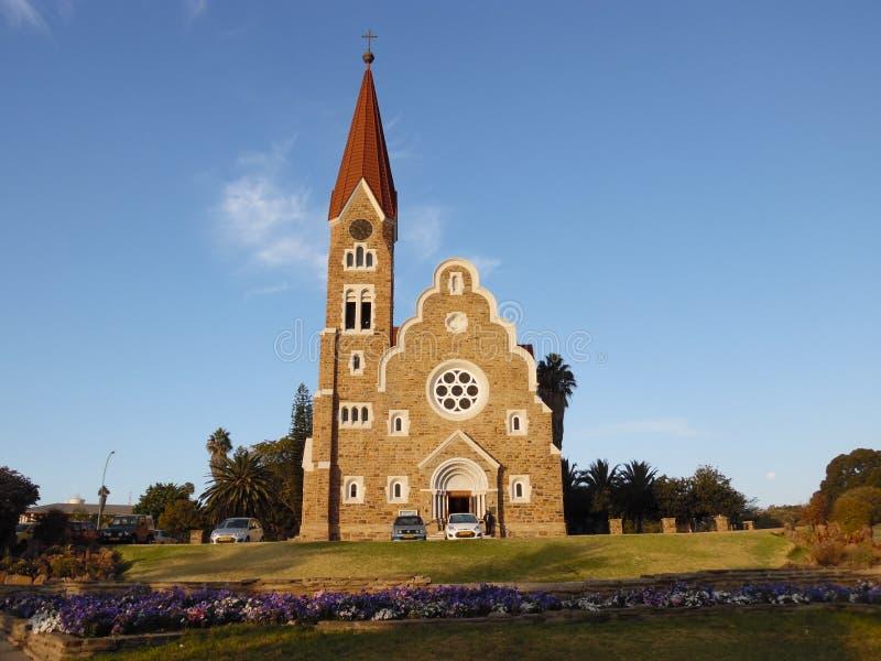 Iglesia en Windhoek imagen de archivo