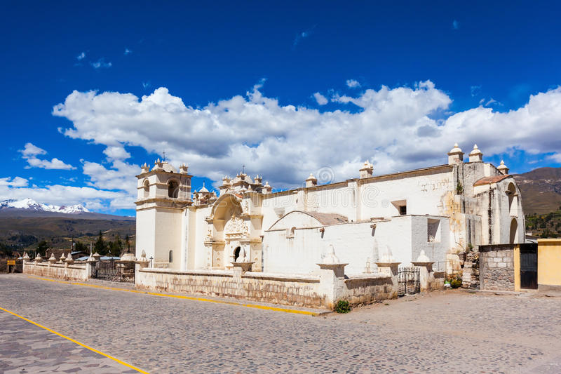 Iglesia en Yanque imagen de archivo libre de regalías