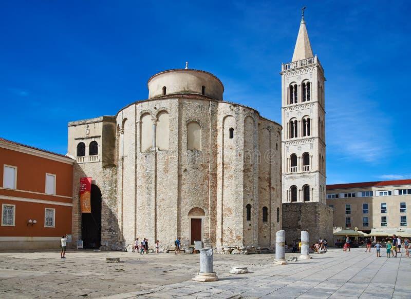 Iglesia en Zadar, Croatia del St Donatus imágenes de archivo libres de regalías