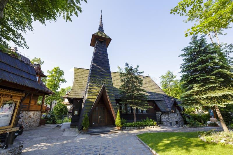 Iglesia en Zakopane, Polonia foto de archivo libre de regalías