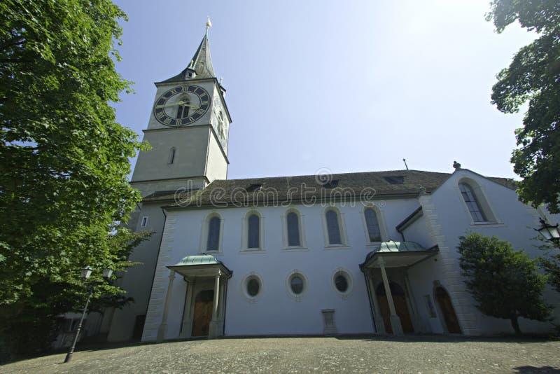 Iglesia en Zurich, Suiza imagenes de archivo