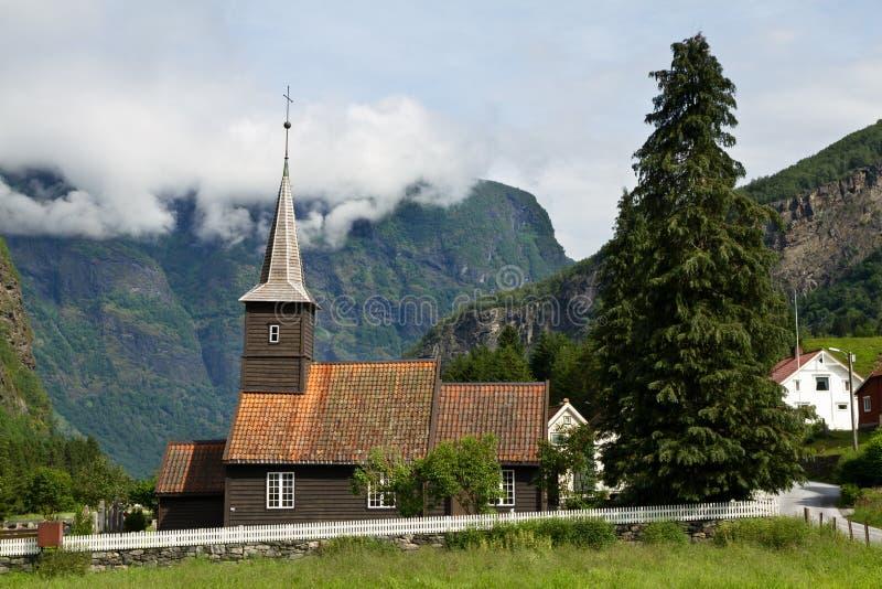 Iglesia estable en Flam fotografía de archivo libre de regalías