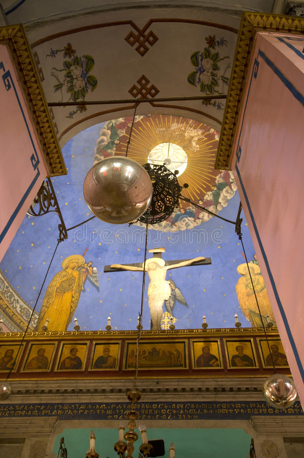 Iglesia etíope, Jerusalén fotografía de archivo