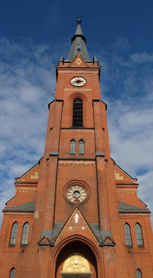 Iglesia evangélica en Frydek-Mistek fotografía de archivo