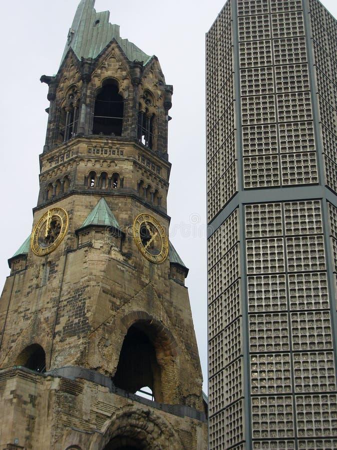 Iglesia famosa en Berlín fotografía de archivo