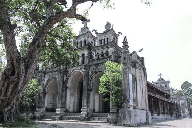 Iglesia, iglesia fantástica de Diem, Ninh Binh, Vietnam imágenes de archivo libres de regalías
