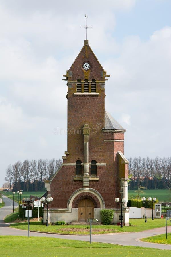Iglesia Francia de Thiepval fotografía de archivo libre de regalías