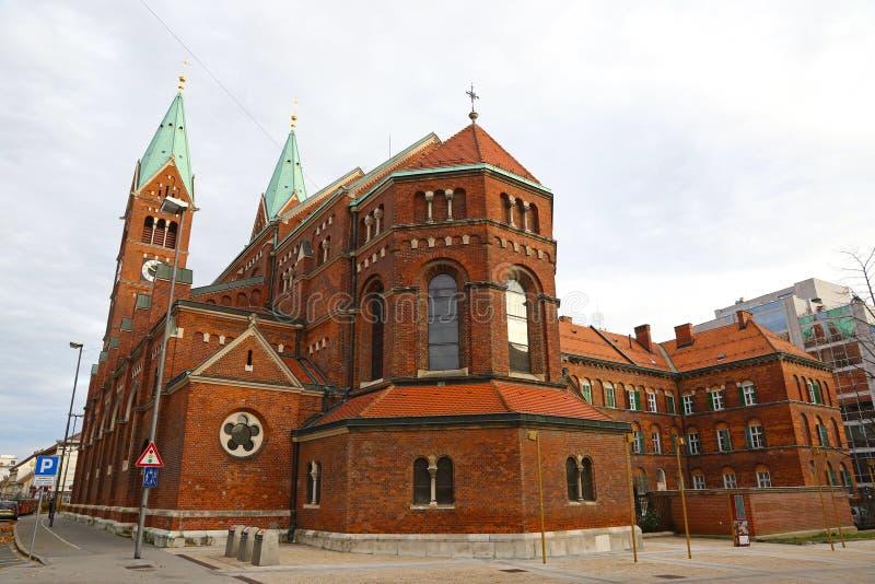 Iglesia franciscana en Maribor, Eslovenia fotografía de archivo