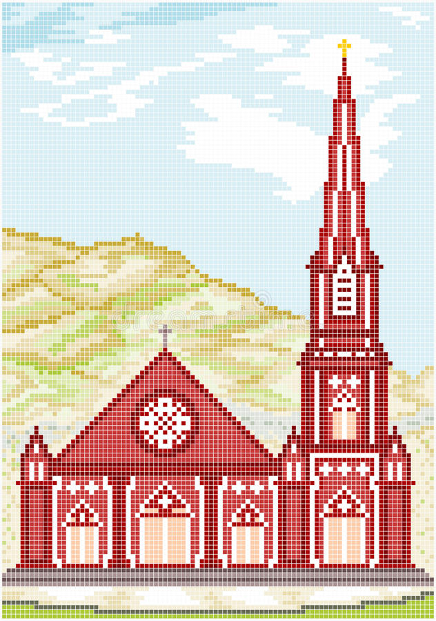 Iglesia gótica antigua del estilo libre illustration