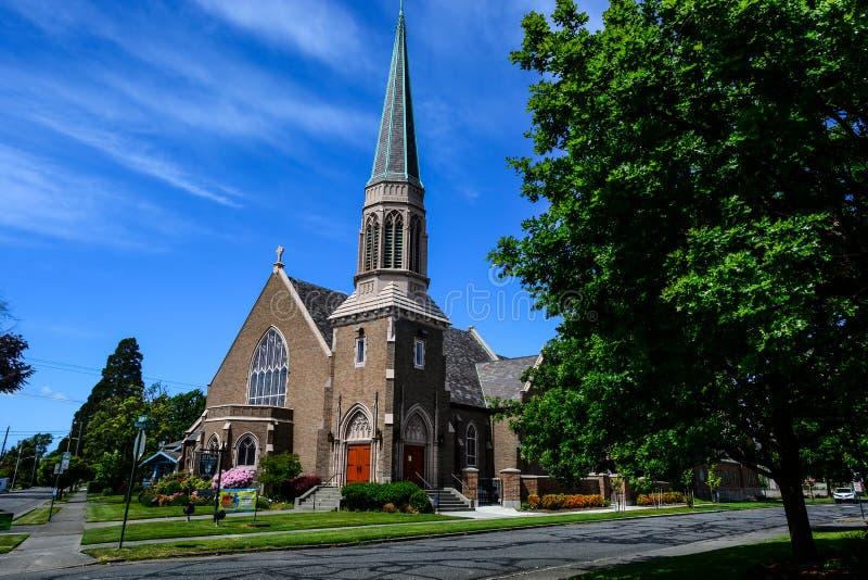 Iglesia gótica en Bellingham, WA fotos de archivo libres de regalías