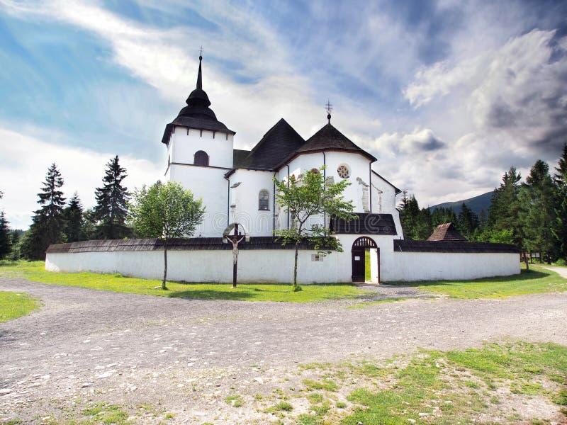 Iglesia gótica en el museo al aire libre de Pribylina imágenes de archivo libres de regalías