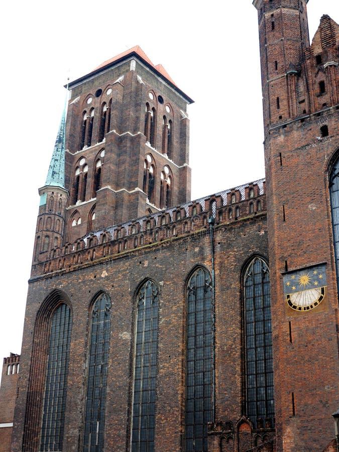 Download Iglesia Gdansk, Polonia Del Ladrillo De La Basílica De St Mary Imagen de archivo - Imagen de edificio, torre: 44855641