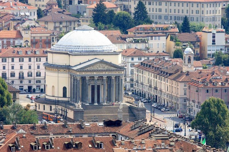 Iglesia Gran Madre di Dio en Turín, Italia imagenes de archivo