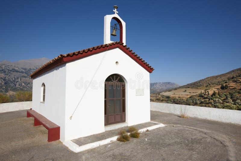 Iglesia griega tradicional en el valle de Amari crete Grecia imágenes de archivo libres de regalías