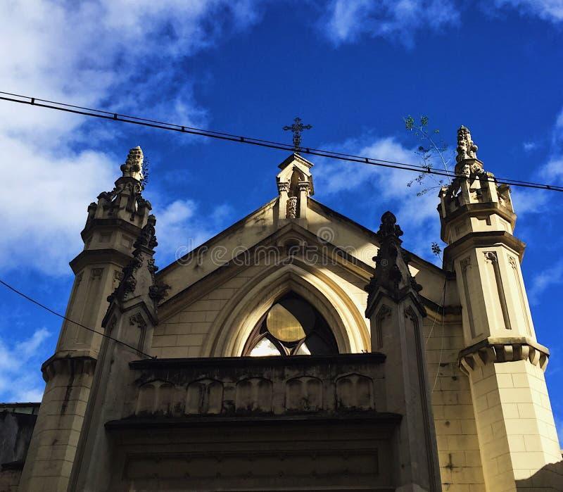 iglesia hermosa fría moutaing fotos de archivo libres de regalías