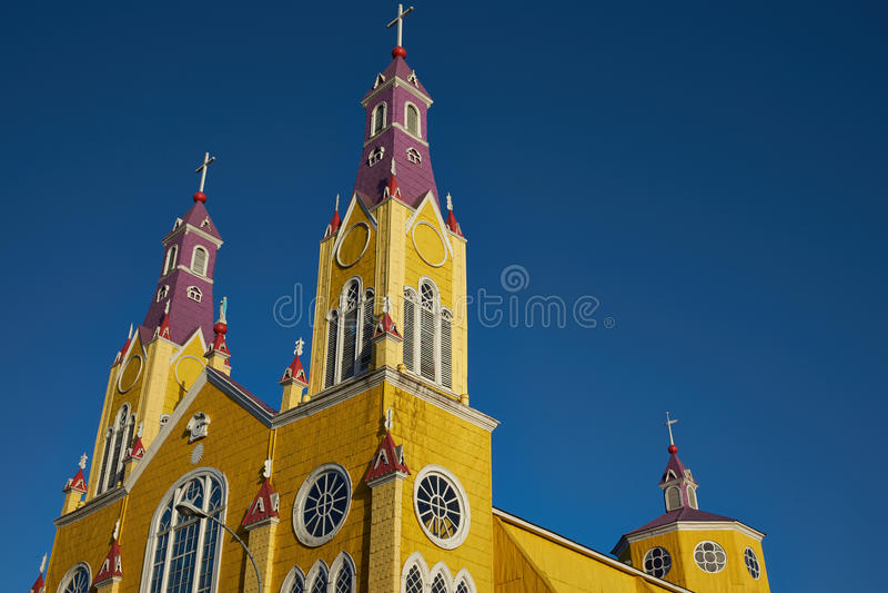 Iglesia histórica de Chiloé imágenes de archivo libres de regalías