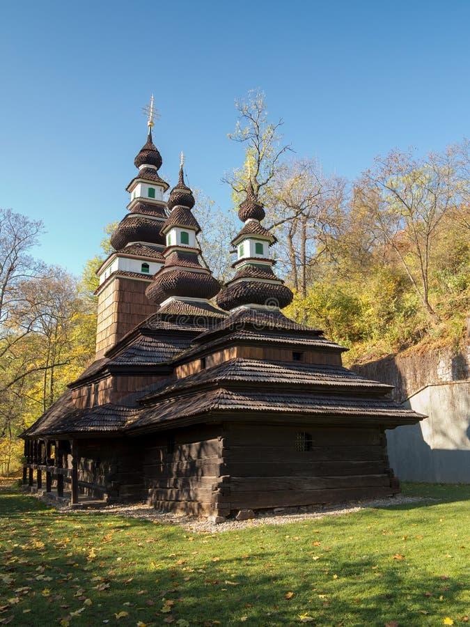 Iglesia histórica de madera del arcángel Michael del St en Praga fotografía de archivo libre de regalías