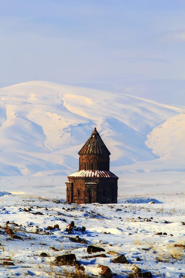 Iglesia histórica en el sitio del Ani - Kars imágenes de archivo libres de regalías