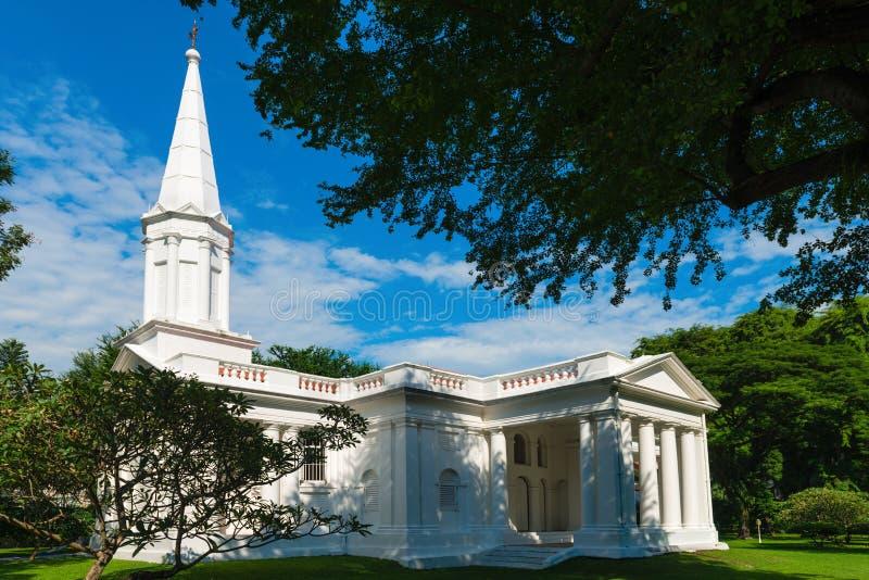 Iglesia hristian blanca fotografía de archivo libre de regalías