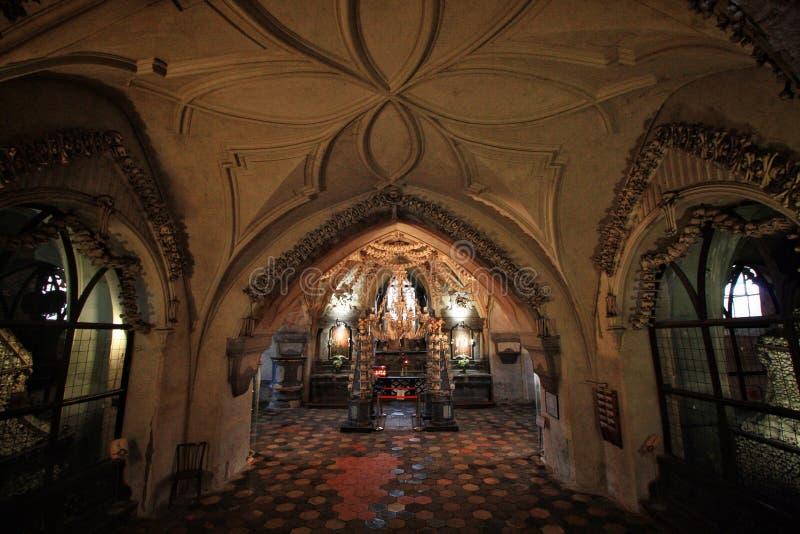 Iglesia humana oscura del hueso imágenes de archivo libres de regalías