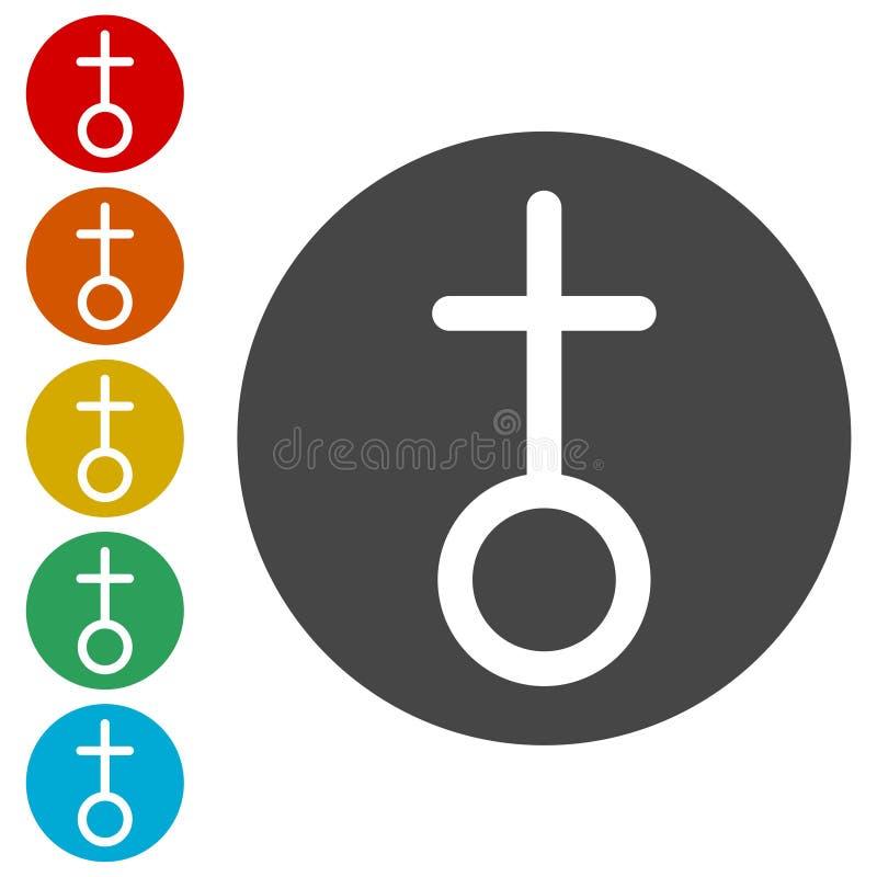 Iglesia - iconos del vector fijados libre illustration