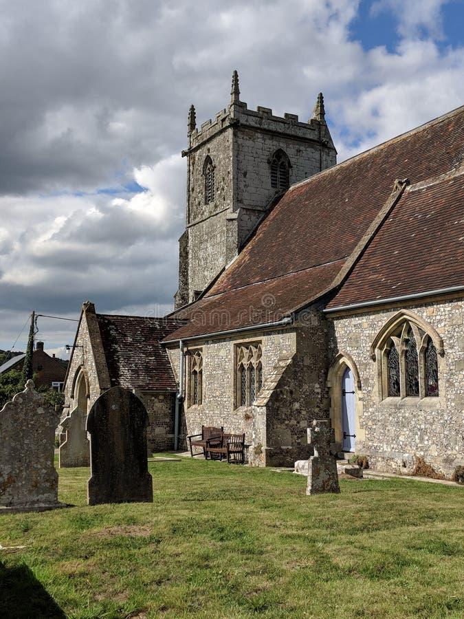 Iglesia inglesa vieja foto de archivo