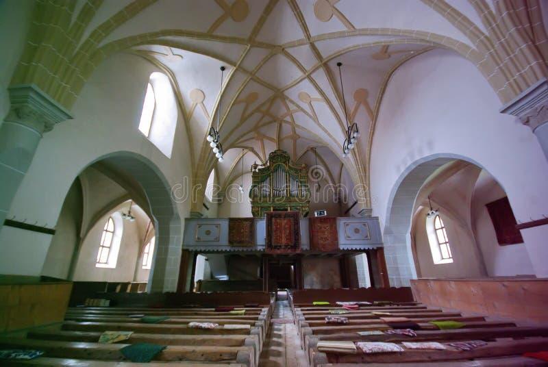 Iglesia interior fotografía de archivo libre de regalías